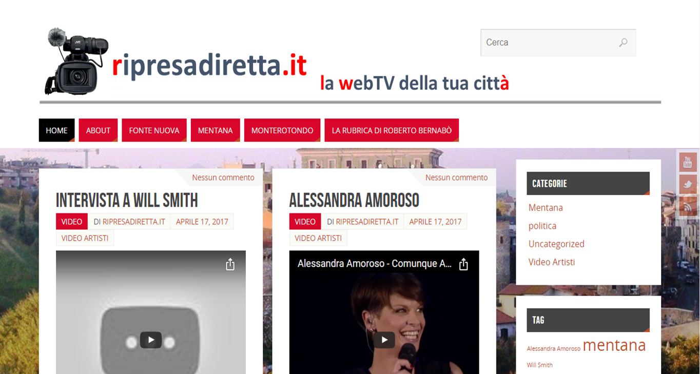 home page ripresadiretta.it