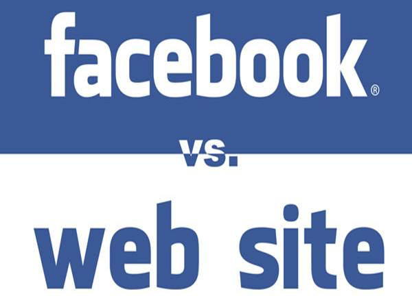 Facebook vs Web Site