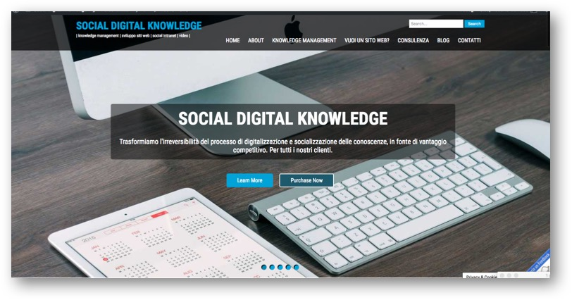 home page Social Digital Knowledge